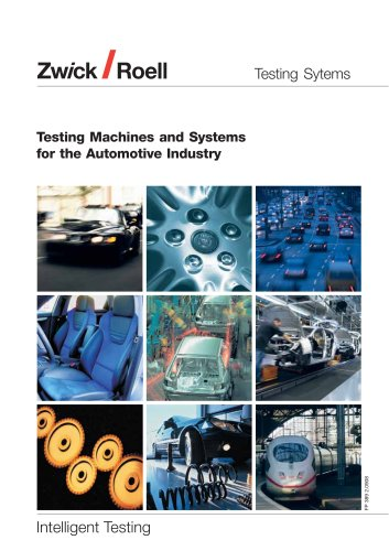 Testing Machines and Systems for the Automotive Industry