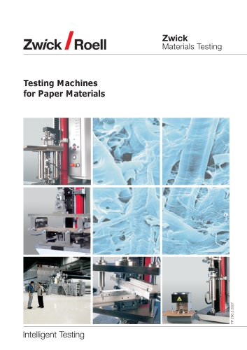 Testing machines for paper materials