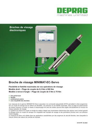 Broche de vissage MINIMAT-EC-Servo