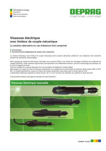 Visseuse électrique A/C avec limiteur de couple mécanique