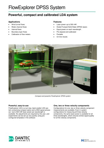 FlowExplorer DPSS System Powerful, compact and calibrated LDA system