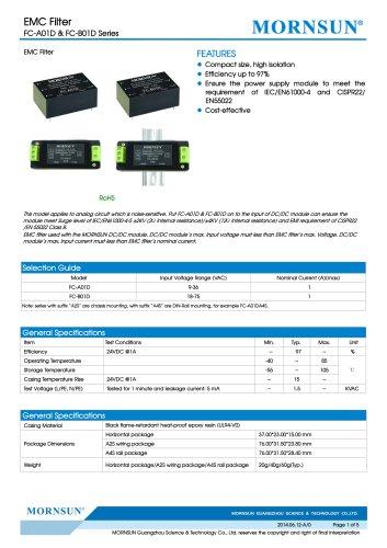 FC-A01D / 9-36vdc input / Target dc/dc converter