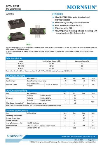 FC-CxxD / 40-160vdc input / Target dc/dc converter
