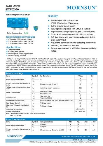 IGBT Driver QC962-8A