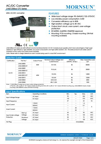 LH60-20Bxx(-DT)---widely used in industrial control, switch and other power industries