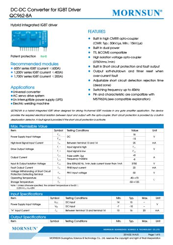QC962-8A / IGBT driver