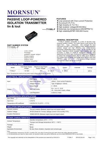 T1100L-F signal converter