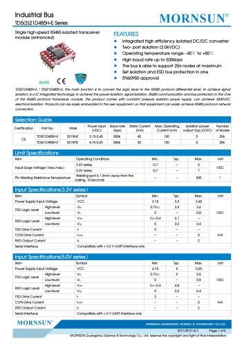 TD5(3)21D485H-E Series
