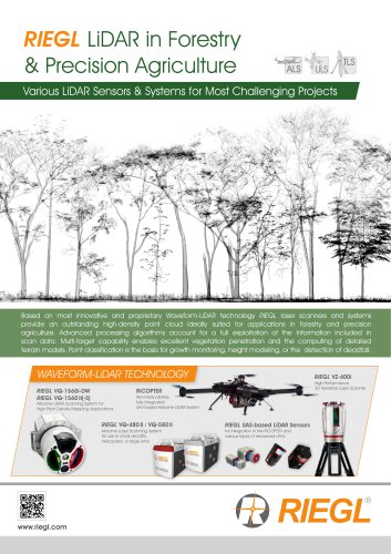 Applicationsheet Forestry & Agriculture
