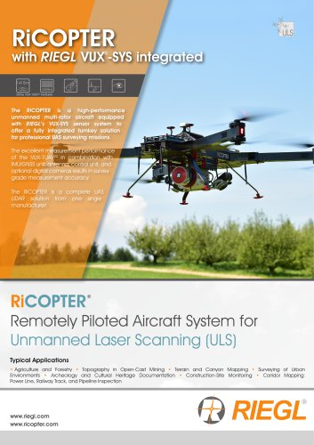 RIEGL RiCOPTER with VUX-SYS