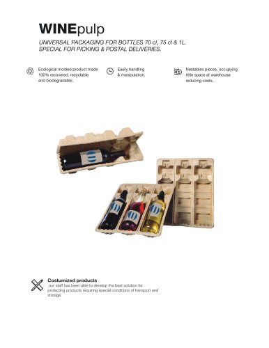 wine pulp packaging ecommerce