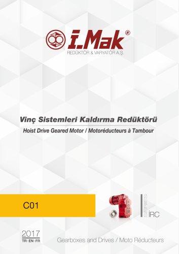 Motoréducteur pour applications de levage - Série IRC