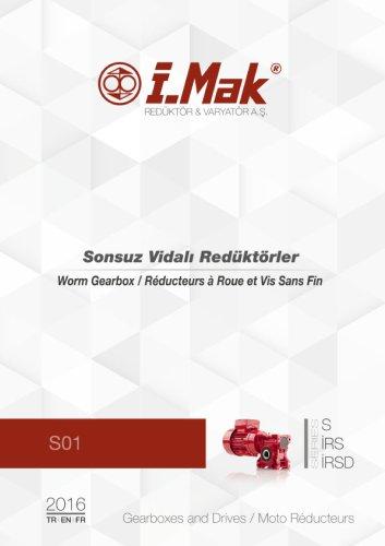 Réducteur à roue et vis sans fin hélicoïdaux - IRSD