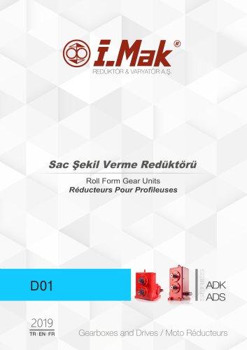 Réducteurs pour profileuse - Series ADK/ADS