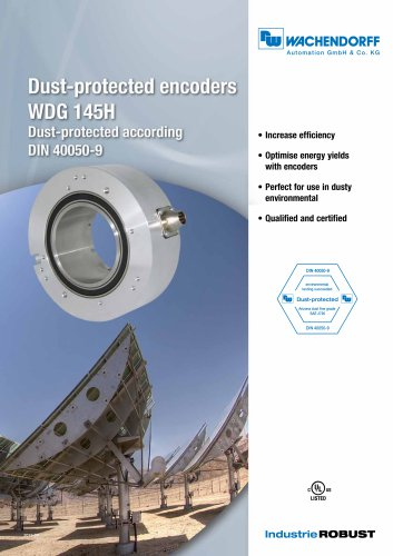 Dust-protected encoders WDG 145H