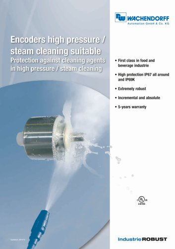 Encoders high pressure/steam cleaning suitable