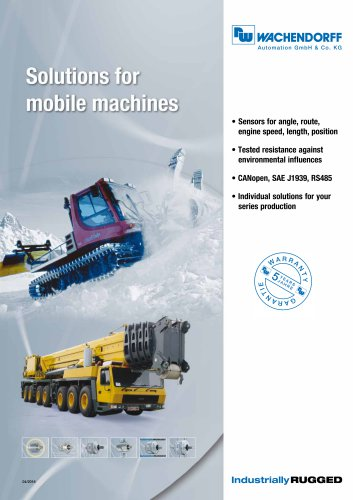 Solutions for mobile machines