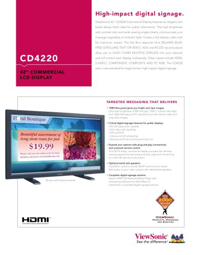 CD4220 High impact digital signage