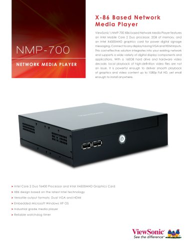 NMP-700 X-86 based Network Media Player