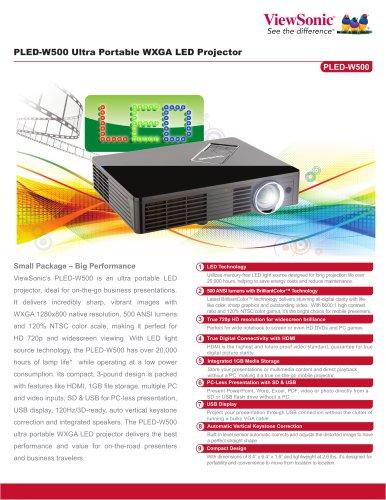 PLED-W500 Ultra Portable WXGA LED Projector
