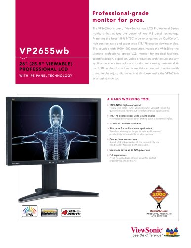 VP2655wb Professional-grade monitor for pros