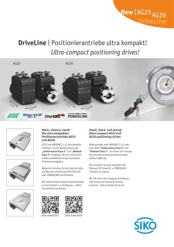 DriveLine | Ultra-compact positioning drives!