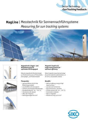 MagLine | Measuring for sun tracking systems