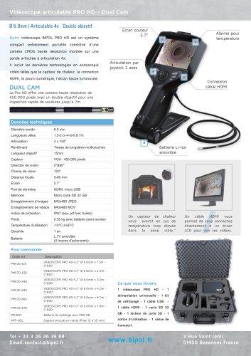 Vidéoscope articulable PRO HD - Dual Cam