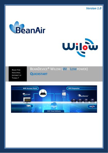 BeanDevice® Wilow® - Wifi sensor for Industrial Internet of Things - QuickStart