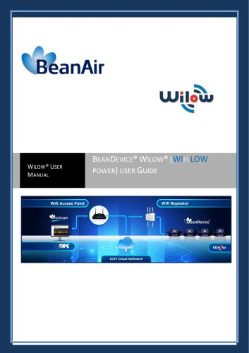 BeanDevice® Wilow® - Wifi Sensors for Industrial Internet of Thing - User guide