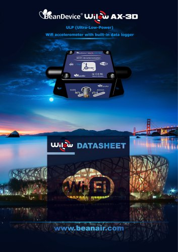 Datasheet BeanDevice Wilow AX-3D , WIFI Vibration sensor for velocity and acceleration monitoring