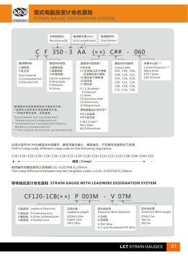Strain Gauge-E catalogue