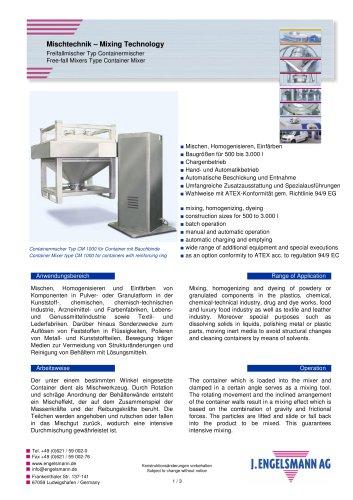 Brochure Container Mixers