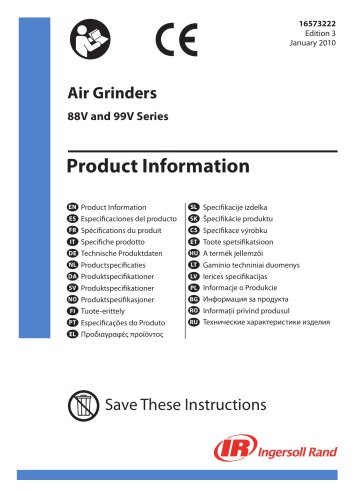 Air Grinders 88V and 99V Series