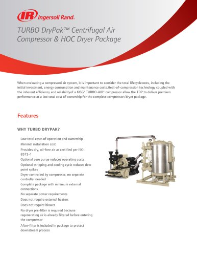 Centrifugal Air Compressor & HOC Dryer Package