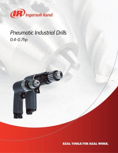 Pneumatic industrial drills