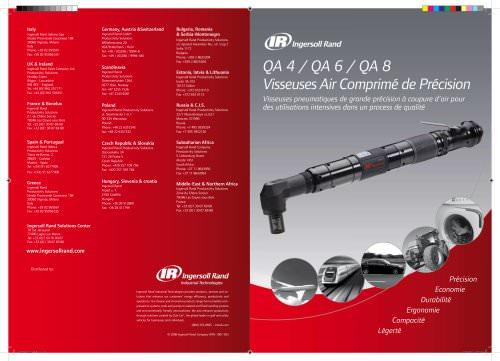 QA 4 / QA 6 / QA 8 Visseuses Air Comprimé de Précision