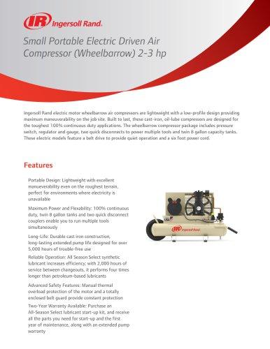 Small Portable Electric Driven Air Compressor
