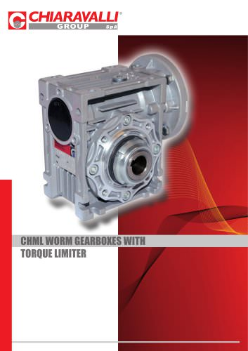 CHML WORM GEARBOXES WITH TORQUE LIMITER