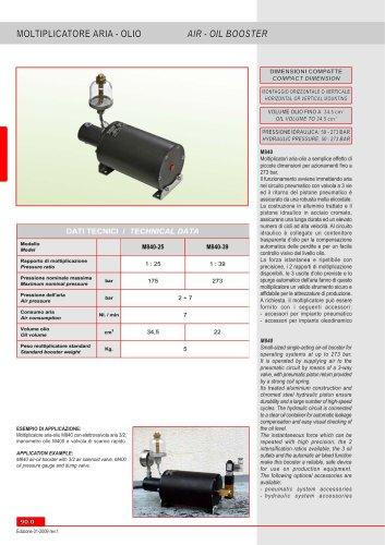 Air-Oil Boosters M 840