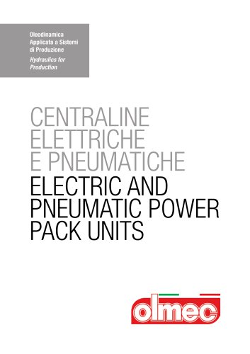 Catalog - Eletric And Pneumatic Power Pack Unit