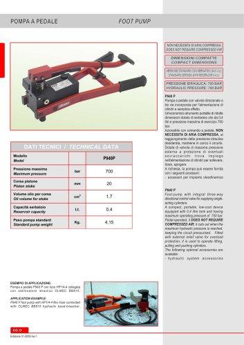 Pneumohydraulic  footpump P940 P