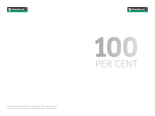 100 PER CENT STAHLWILLE