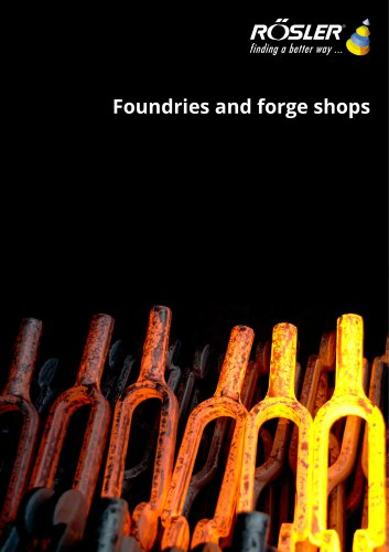Foundries and forge shops