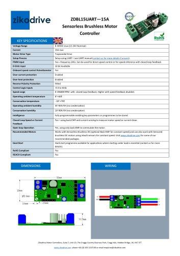 ZDBL15UART—15A Sensorless Brushless Motor Controller