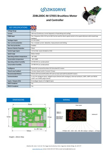 ZDBL20DC-M-57055 Brushless Motor and Controller