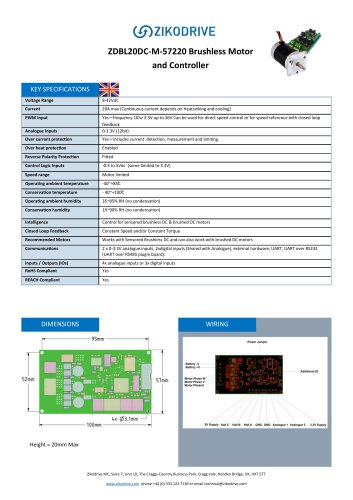 ZDBL20DC-M-57220 Brushless Motor and Controller