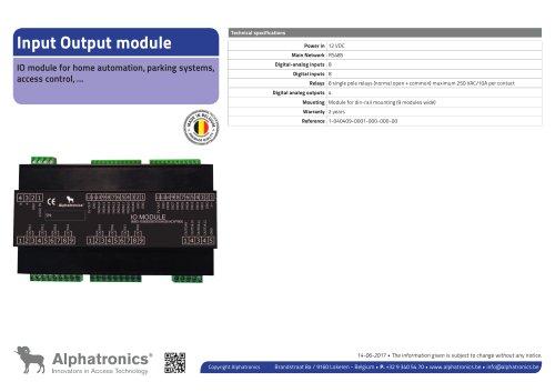 Input Output Module - 8 inputs