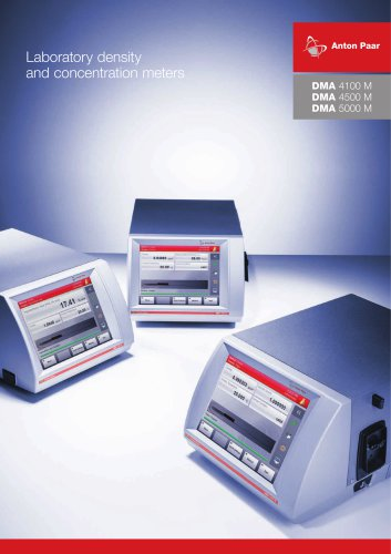 DMA 4100 M DMA 4500 M DMA 5000 M - Laboratory density and concentration meters_ XDLIP018EN-D