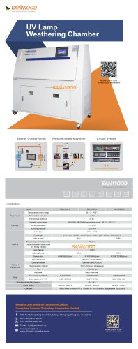 ENVIRONMENTAL TEST CHAMBER / UV LIGHT AGING / STAINLESS STEEL / AUTOMATIC SM-UV600-C
